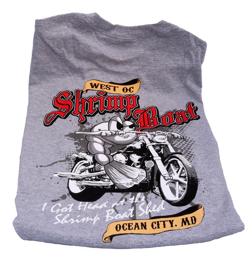 Shrimp Boat Biker Shirt